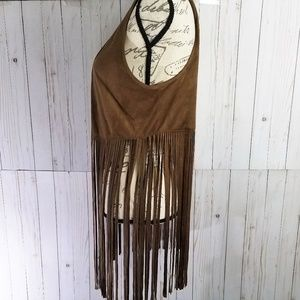 Maurices Jackets & Coats - NWT MAURICES Faux Suede Fringe Festival Vest Med